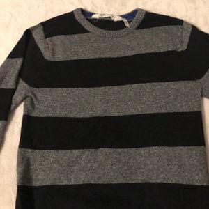 🔥 3/$15🔥 light sweater sz 6-8 Grey & black